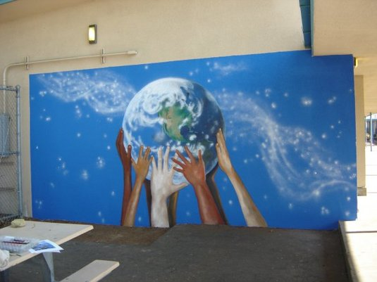 Murals linda lauderbaugh designs for Elementary school mural